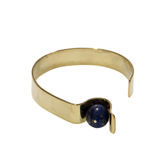 [Add]Tension - Curve Bracelet in Lapis