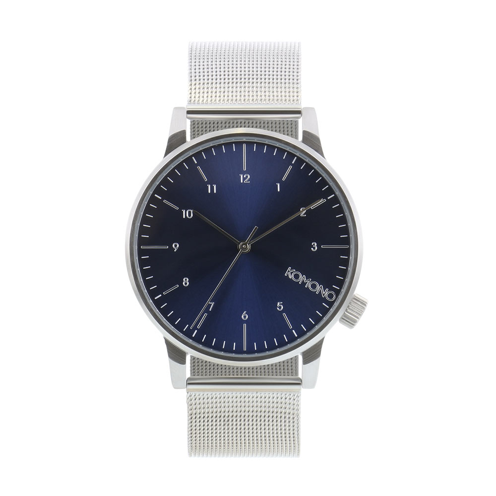 Komono - Winston Royale Silver/Blue Watch