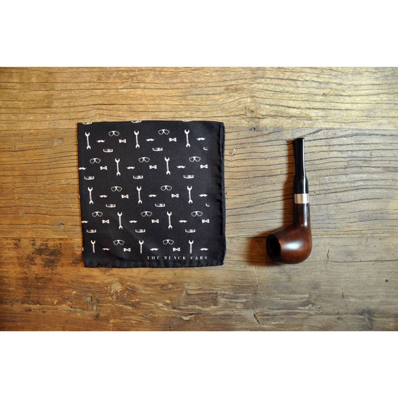 The Black Ears - The Gentleman Tools Pocket Square