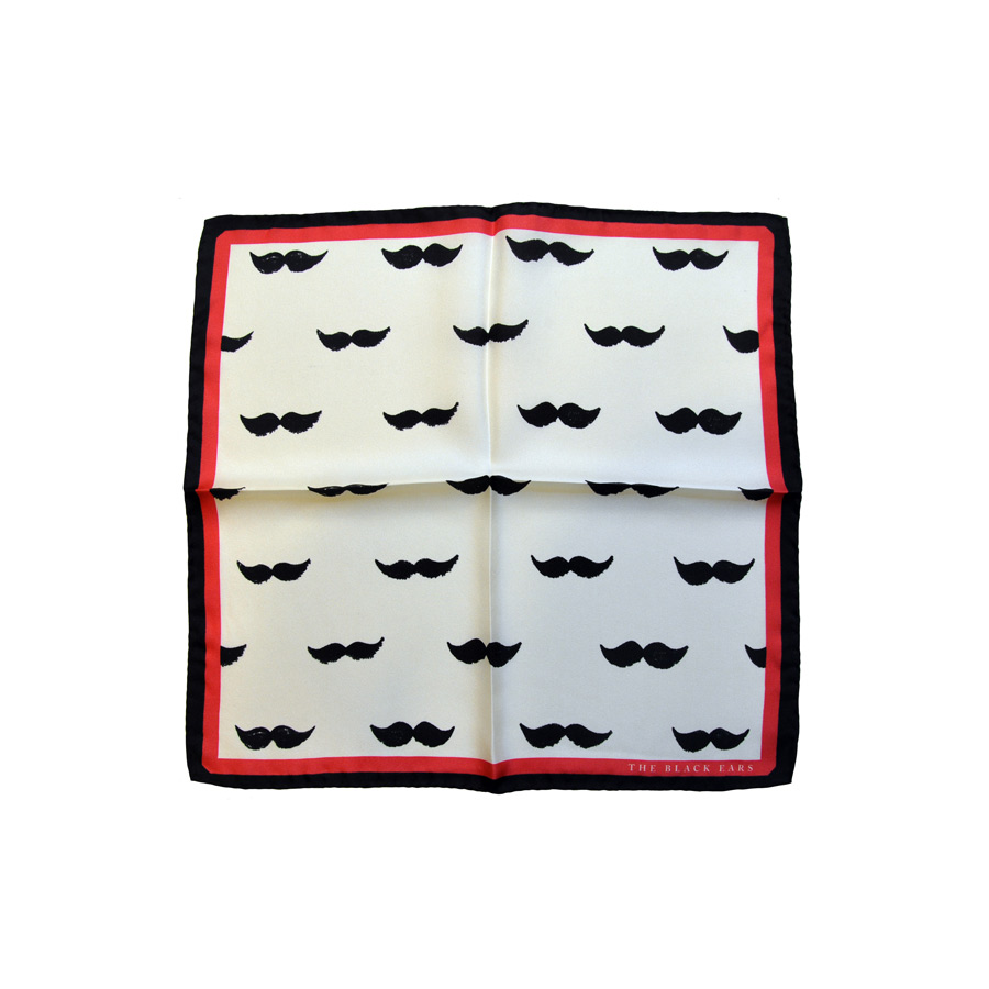 The Black Ears - The Big Moustache Pocket Square