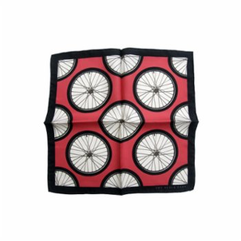 The Black Ears - The Red Wheel Pocket Square