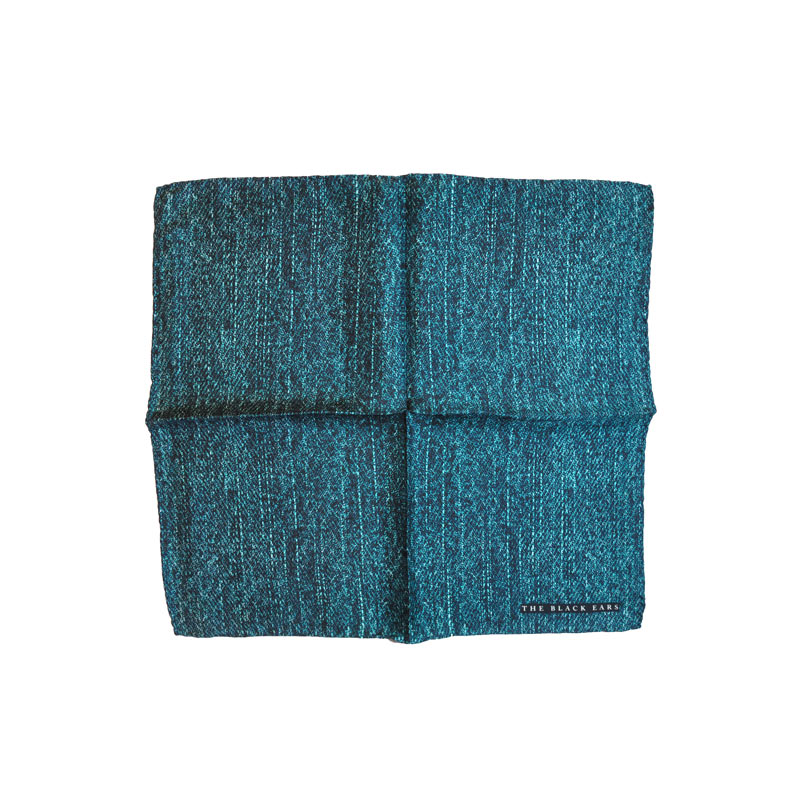 The Black Ears - The Green Jean Pocket Square