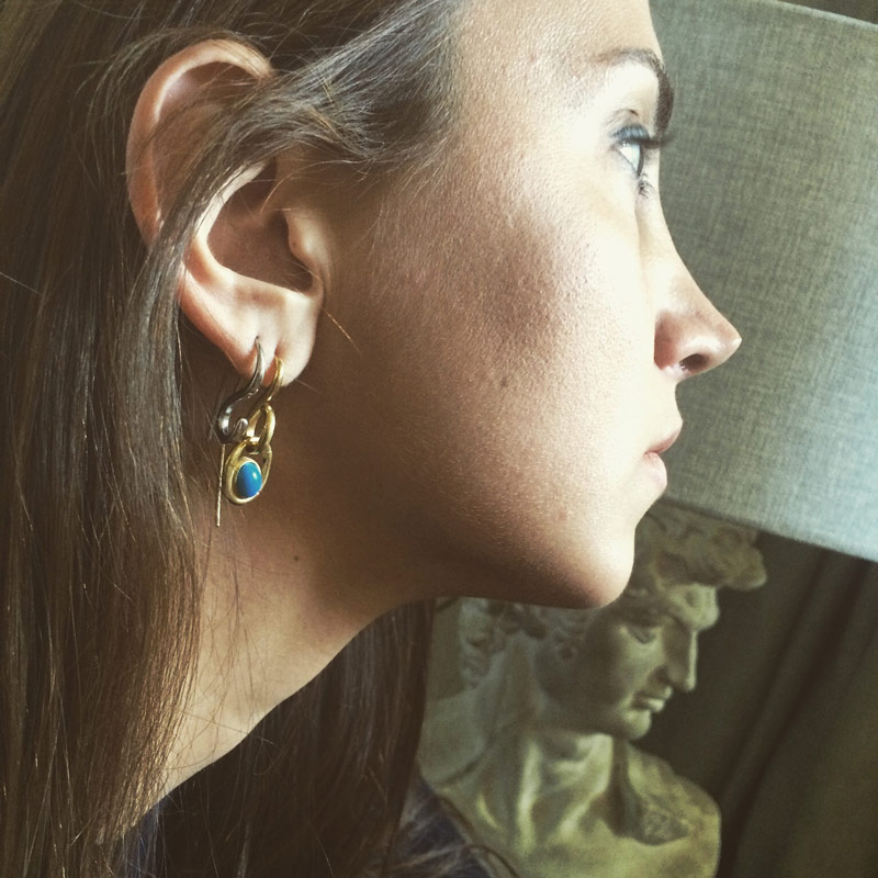 [Add]Tension - S Earring - Short with Optional Stone