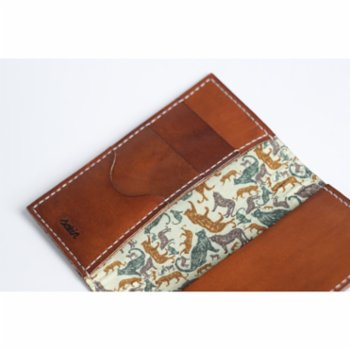 Sakin Leather - Fabric Wallet