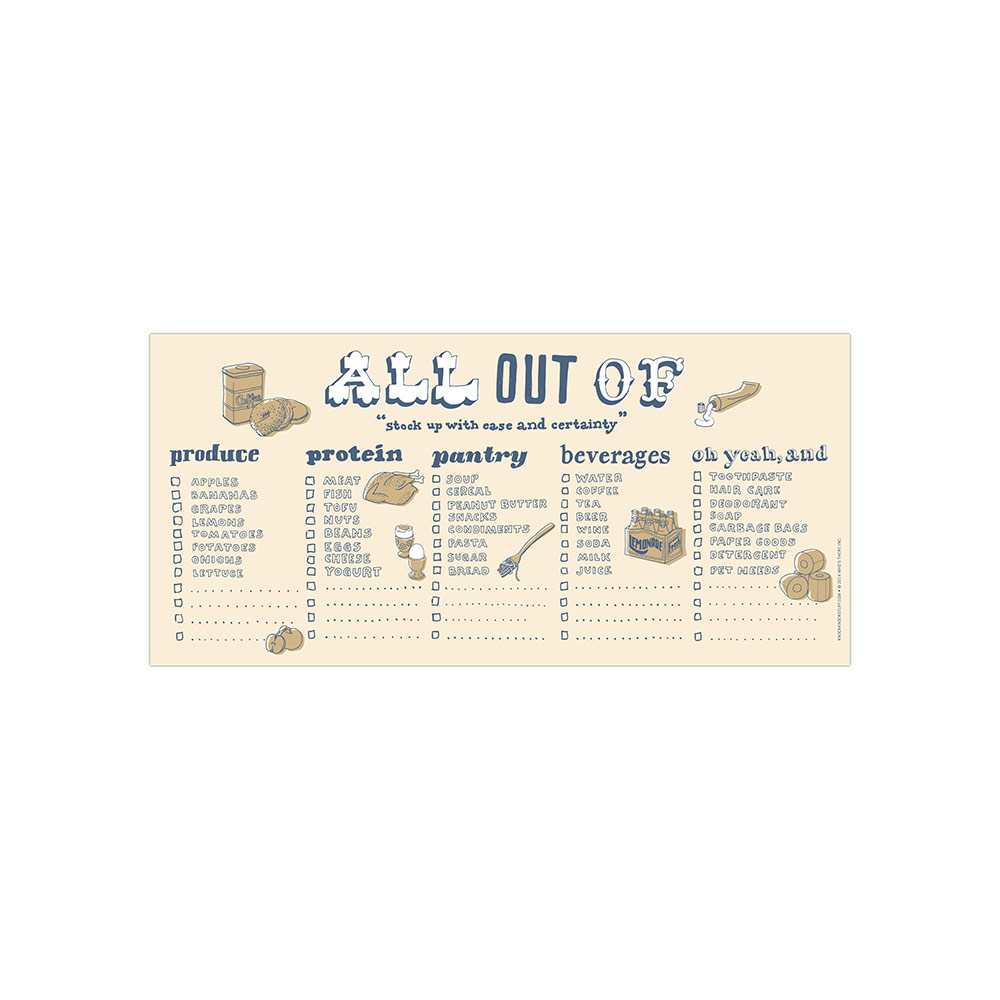Knock Knock - Hand Lettered Horizotal Pad All out of