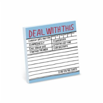 Knock Knock - Deal With This - Sticky Note