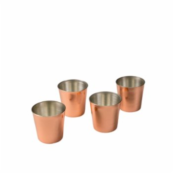 Bakır İstanbul - Musketeers Copper Show Glass Set of 4