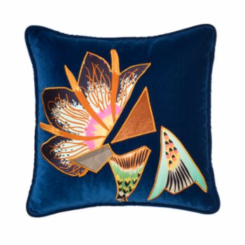 Alpaq Studio - Velvet Cushion With Applique Detail II