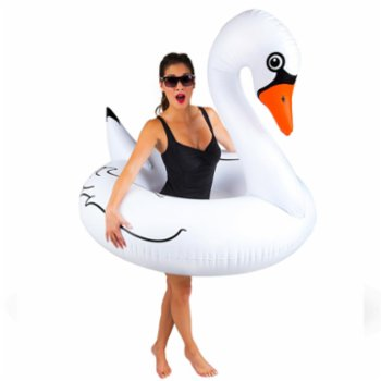 Colorize - White Swan Float Swim Ring