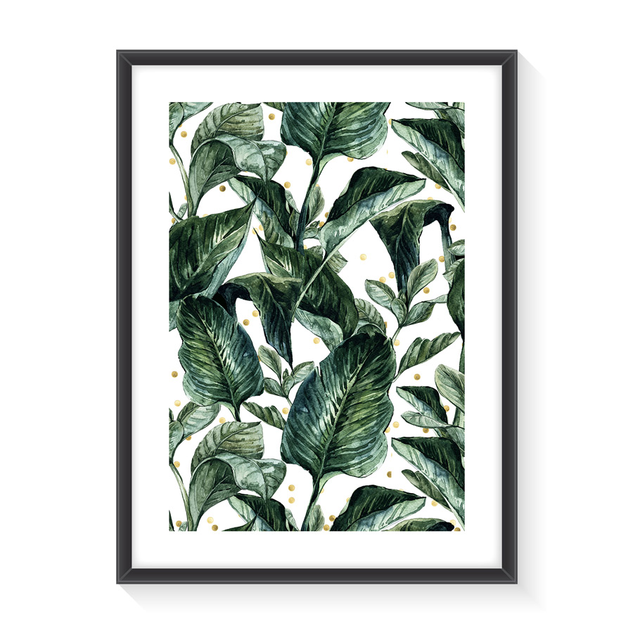 Normmade - Green Leaves Print