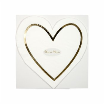 Meri Meri - Pearl Heart Napkin Pack of 16