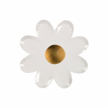 Meri Meri - White Daisy Plates Pack of 8