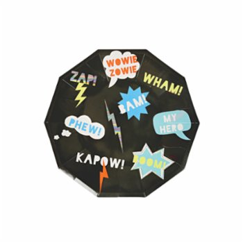 Meri Meri - Superhero Plate Pack of 8