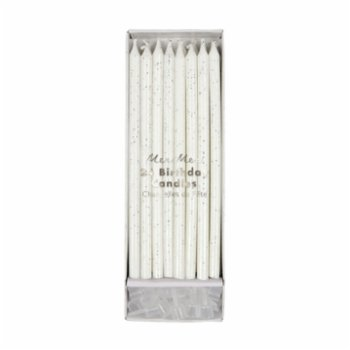 Meri Meri - Silver Glitter Birthday Candles
