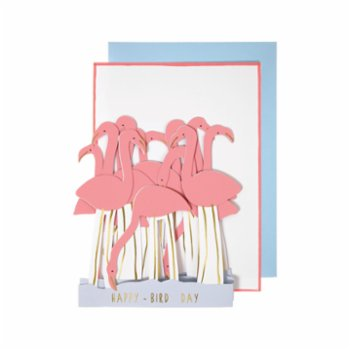 Meri Meri - Flamingos Card