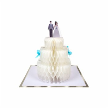 Meri Meri - Wedding Cake Honeycomb Card