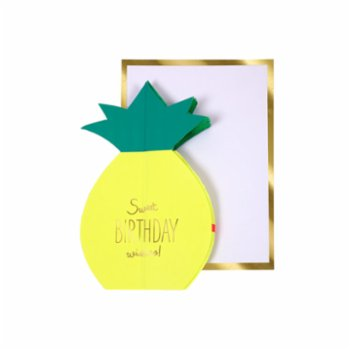 Meri Meri - Pineapple Honeycomb Card