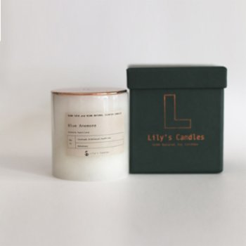 Lily's Candles - Blue Anemone Marble Natural Candle