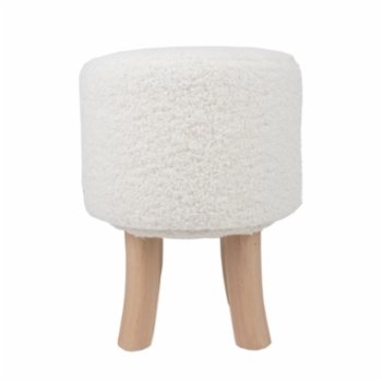 Table and Sofa - Paco Wood Pouf