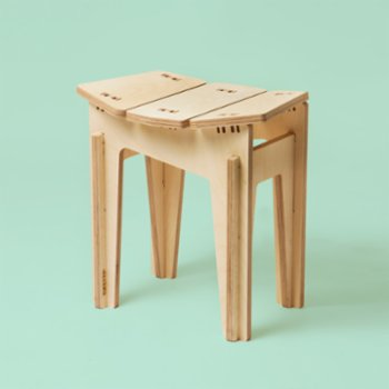 Tufetto - Carry On Wooden Stool