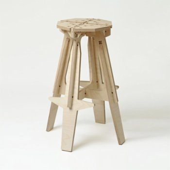 Tufetto - The Mill Wooden Bar Stool