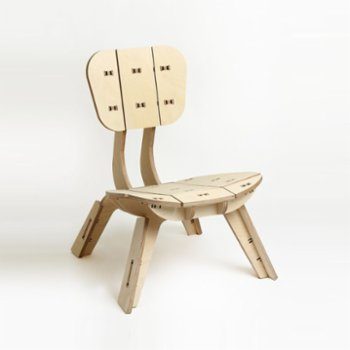 Tufetto - Tospaa Wooden Lounge Chair