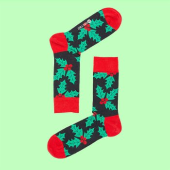 One Two Sock - Mistletoe Socks