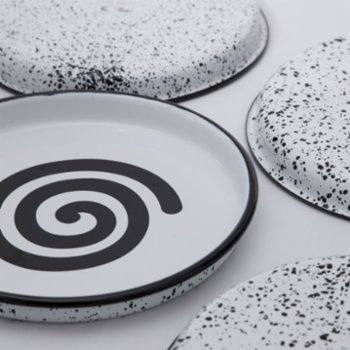 Mesele - Spiral Enamel Tray - (Change And Growth)