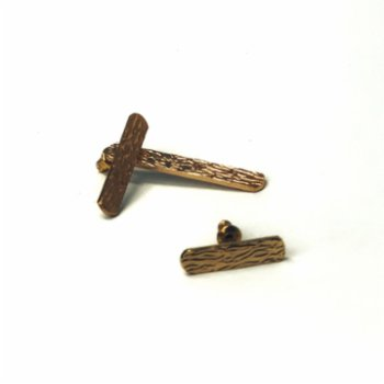 Art Project İstanbul - Wood Pattern Earring