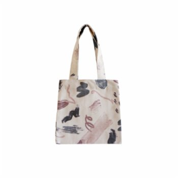 Klue Concept - Abstract Small Tote Bag - Nude