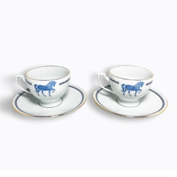 Some Home İstanbul - Horse Luck Blue Çay Fincan Seti