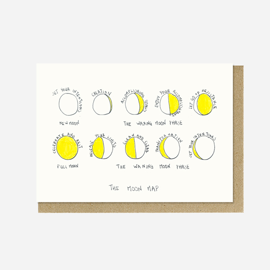 Paper Street Co. - The Moon Map Postcard