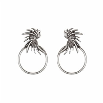 Bodhita - Vinge Circle Earrings