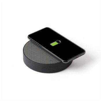 Lexon - Oslo Energy Wireless Charging Station and Bluetooth Speaker