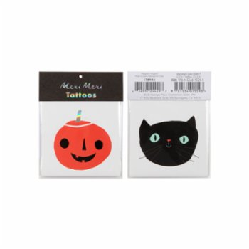 Meri Meri - Pumpkin and Cat Tattoos