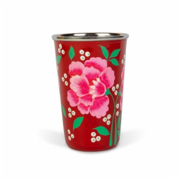 3rd Culture - Red  Floral Tumbler