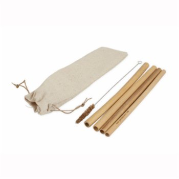 Gaia's Store - Be The Change Bamboo Straw 4 pack