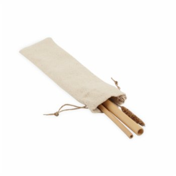 Gaia's Store - Be The Change Bamboo Straw 2 Pack