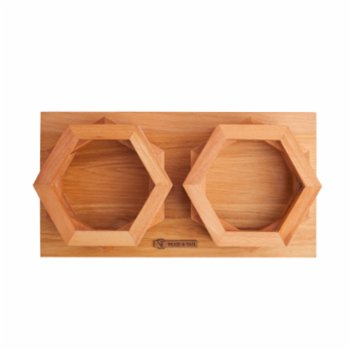 Wood&Tail - Hexxup Cat/Dog Bowl Stand