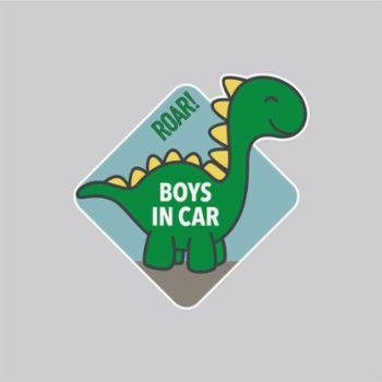 Baluna - Boys in Car Sticker