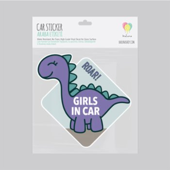 Baluna - Girls in Car Dino Sticker