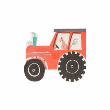 Meri Meri - On the Farm Tractor Napkins