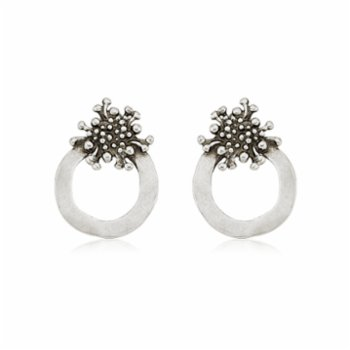 Bodhita - Lava Circle Earrings