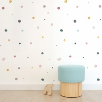 Pop by Gaea - Watercolor Dots Colorful I Sticker