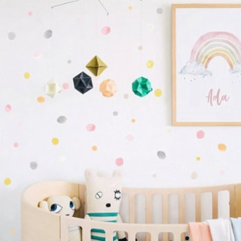 Pop by Gaea - Watercolor Dots Colorful IV Sticker