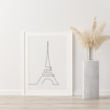 Fabl - The Eiffel Tower In A Single Line Print