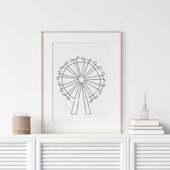 Fabl - The London Eye In A Single Line Print