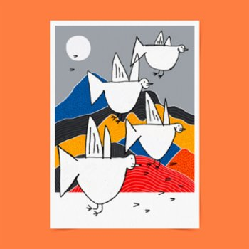 Studio These Days - Migration to Colorful Mountains Poster