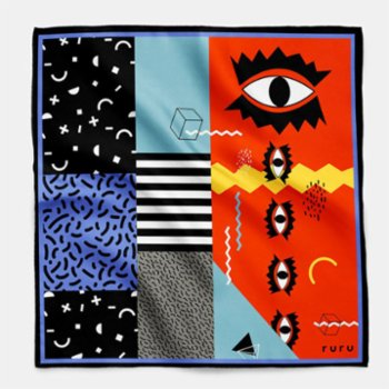 Rurugrafik  - Eye Browse Silk Scarf