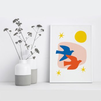Fabl - Life Is Beautiful, Birds Are Flying Print